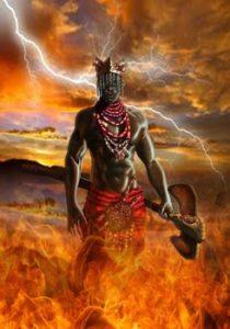 Imagen referencia del orisha agayú