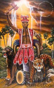 Orisha Shangó parte de los Orishas de Olodumare