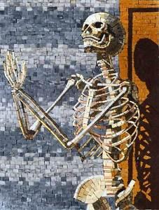 esqueleto de origen de la santa muerte